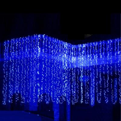 Perdea Luminoasa Craciun 2.4x1.5m 625 LEDuri Statice Albastre FI P CL422