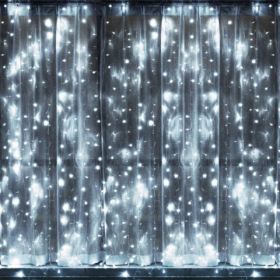 Perdea Luminoasa Craciun 3x1m 120LED Alb Rece FA IP44 Joc Flash P 9016
