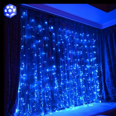 Perdea Luminoasa Craciun 3x2.2m 192LED 7in1 Albastru FN P