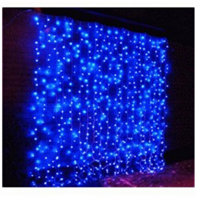 Perdea Luminoasa Craciun Ext. 3x3m 300LED Albastra Fir NEGRU P 6012