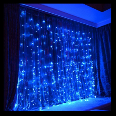 Perdea Luminoasa Craciun Exterior 3x3m 352LED Albastru FN IP44 P 5804