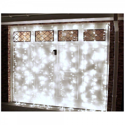 Perdea Luminoasa Craciun Ext. 6x3m 400LED Alb Rece Fir Incolor 6021