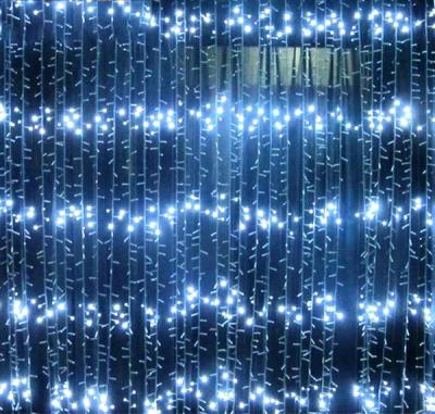 Perdea Luminoasa Ploaie 8x1m 384LED Alb Rece IP44 FI P 6001