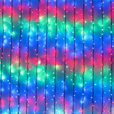Perdea Luminoasa Ploaie Craciun 480LED Multicolor 3x3m NP 1858