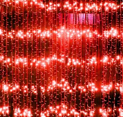 Perdea Luminoasa Ploaie Prelungibila 3x2.5m 504LED Rosie Ext. FI 6014