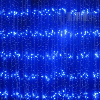 Perdea Luminoasa Ploaie Prelungibila 3x2.5m 504LED Albastra Ext. FI 6014