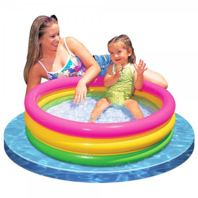 Piscina Gonflabila Rotunda 86x25cm Rainbow Intex 57104