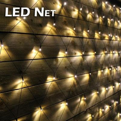 Plasa Luminoasa Craciun 2x2m 160LED Alb Cald Fir Negru P 6008