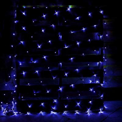 Plasa Luminoasa Craciun 2x2m 160LED Albastru Fir Negru P 6008