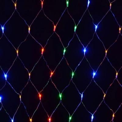 Plasa Luminoasa Craciun 2x2m 160LED Multicolor Fir Negru P 6008