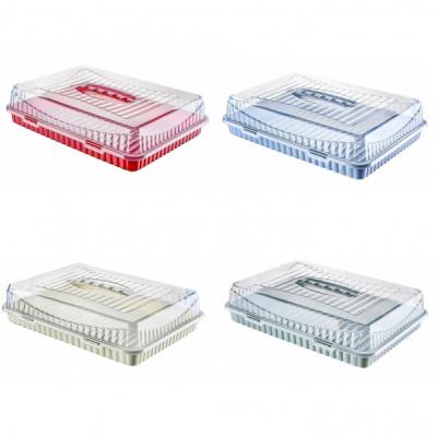 Platou Prajituri cu Capac Plastic Colorat 31x43x10.5cm Tuffex TP378 JU