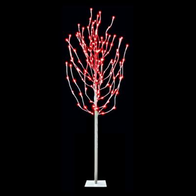Pomisor Luminos de Craciun 1.7m cu 125LED Rosii 25 Crengute