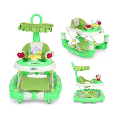 Premergator Balansoar 2in1 Copii Muzical Reglabil Verde MRD629