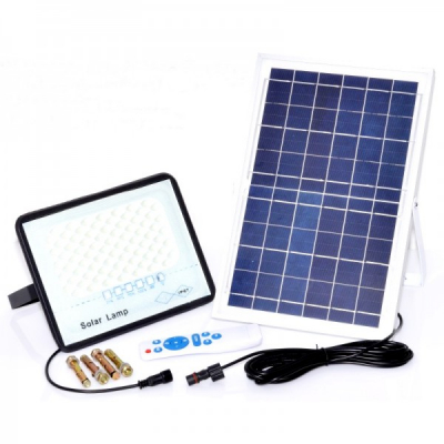 Proiector LED 100W 6500K IP67 cu Panou Solar si Telecomanda LPS100110