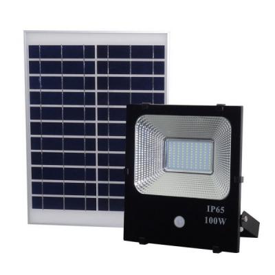 Proiector LED 100W Alb Rece cu Panou Solar si Senzor de Miscare WT