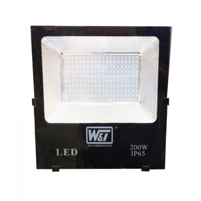 Proiector LED 200W 200LEDuri SMD Alb Rece IP65 220V WT