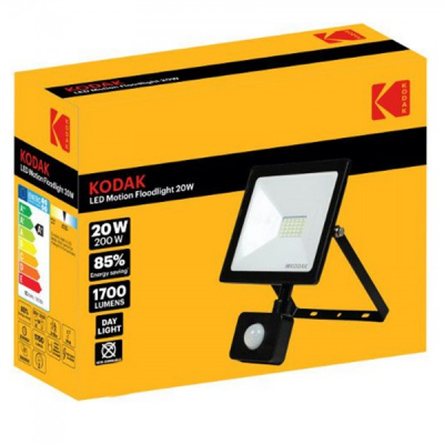 Proiector LED 20W Senzor Miscare 1700lm IP65 6400K 220V 19x14cm Kodak