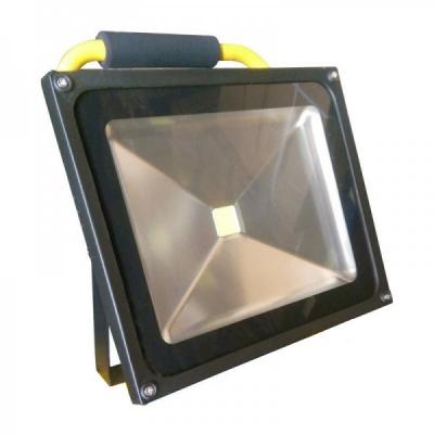 Proiector LED 30W Alb Rece IP65 220V cu Acumulator, Maner, Suport