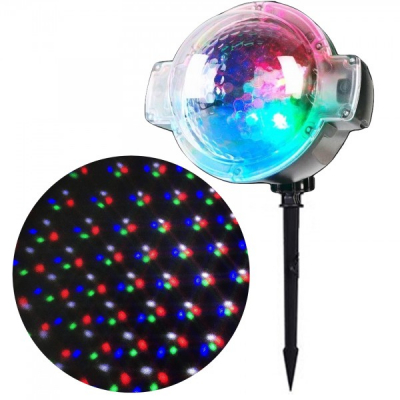 Proiector LED Prisma Rotativa Puncte Color 220V