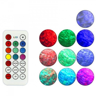 Proiector Lumini Disco Efect Reflexie Apa cu Telecomanda XL800 JU