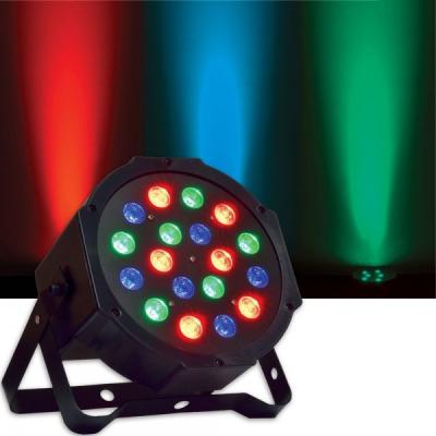 Proiector Lumini Par 18 LEDuri 1W RGB Intrare si Iesire DMX