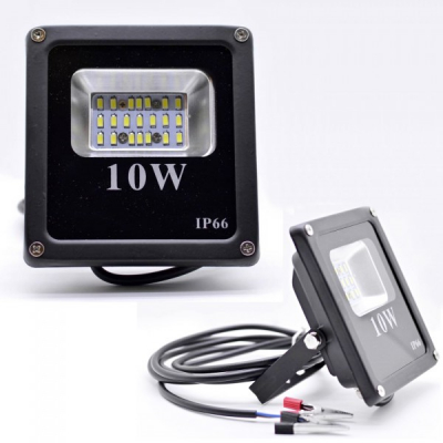 Proiector Slim LED SMD 10W Alb Rece 12V Clesti IP66 P57301210