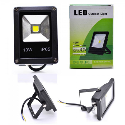 Proiector Slim LED SMD 10W Alb Rece 220V IP65 P101022010