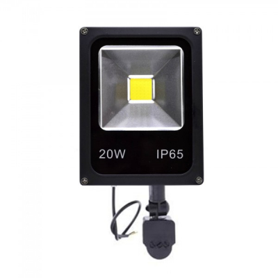 Proiector Slim LED SMD 20W cu Senzor Miscare Alb Rece 220V PS2203301