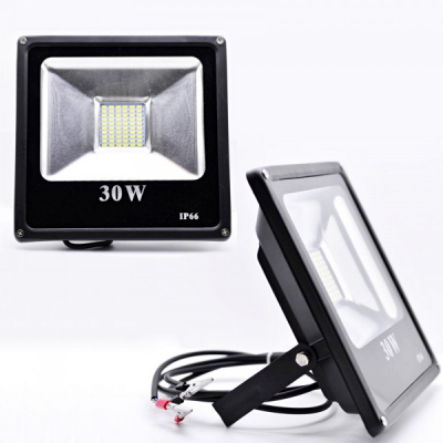 Proiector Slim LED SMD 30W Alb Rece 12V Clesti IP66 P57301230
