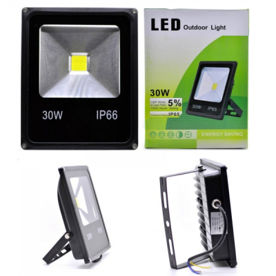 Proiector Slim LED SMD 30W Alb Rece 220V IP65 P101022030