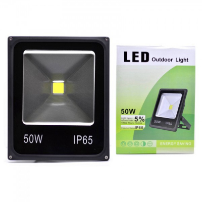 Proiector Slim LED SMD 50W Alb Rece 220V IP65 P101022050