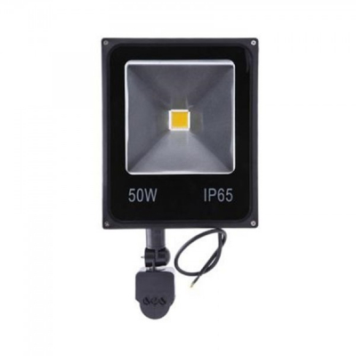 Proiector Slim LED SMD 50W cu Senzor Miscare Alb Rece 220V PS22050