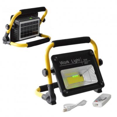 Proiector Solar LED COB 50W IP67 cu Suport si Telecomanda W743