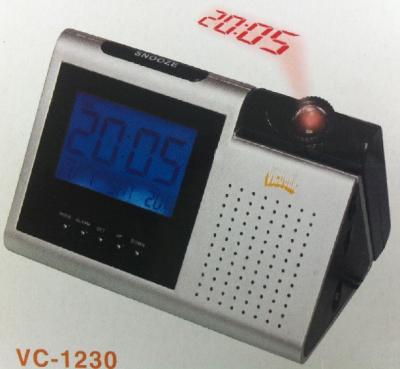 Radio Digital AM FM Ceas Termometru Proiectie si Calendar Victronic VC1230