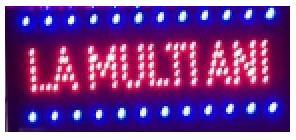 Reclama Luminoasa cu LED 50x25cm La Multi Ani