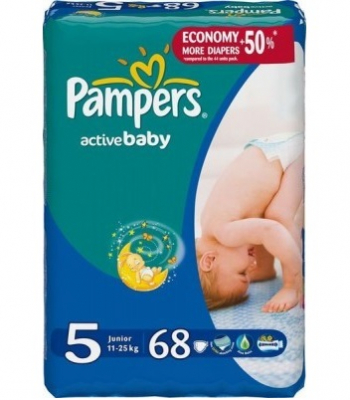 Scutece Pampers Active Baby 5 Junior 68 bucati