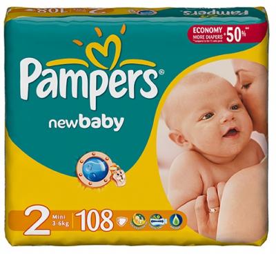 Scutece Pampers New Baby 2 Mini 108 bucati