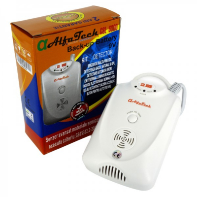 Senzor Detector Gaze cu Back-up Battery AlfaTech CSL6000