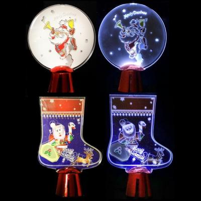 Set 10 Decoratiuni LED 3D Decor Masa Craciun Div. Modele cu Baterii