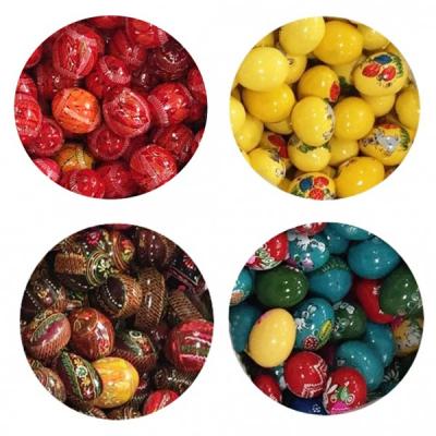 Set 10 Oua Pasti din Lemn, Vopsite sau Incondeiate in Diverse Culori