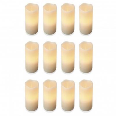 Set 12 Lumanari din Ceara Electrice cu LED Flacara care Palpaie 12x7cm