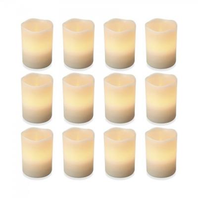 Set 12 Lumanari Electrice din Ceara cu LED care Palpaie 9x6cm