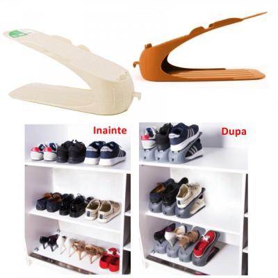 Set 12 Suport Organizator Pereche Pantofi 29x10x14cm