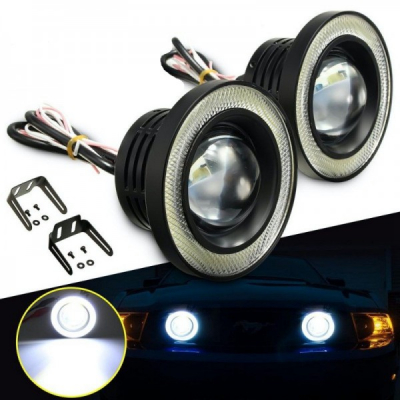 Set 2 x Proiector Auto cu LED 10W 64mm 3200Lm 6500K LEDM60964