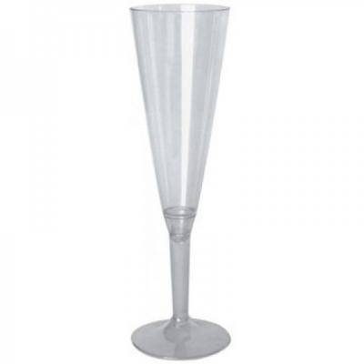 Set 20 Pahare Sampanie Plastic cu Picior Detasabil 160ml