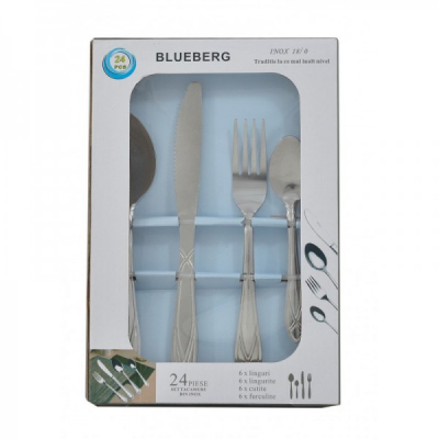 Set 24 tacamuri din otel inoxidabil Blueberg BB901 JU
