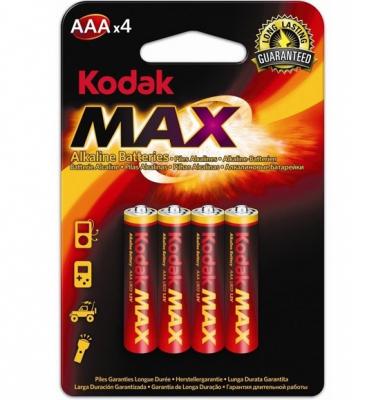 Set 4 Baterii Alcaline Kodak MAX, tip AAA / LR03