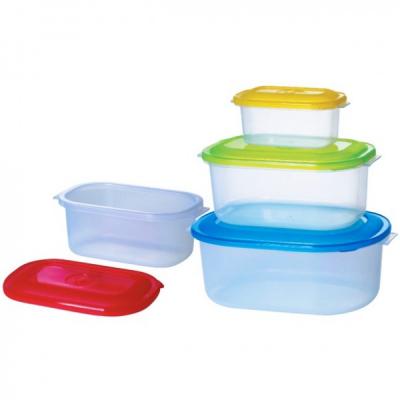 Set 4 Caserole Plastic pentru Alimente cu capac Bohmann BH55