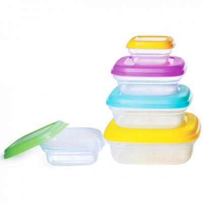 Set 5 Caserole Plastic pentru Alimente cu capac Bohmann BH53