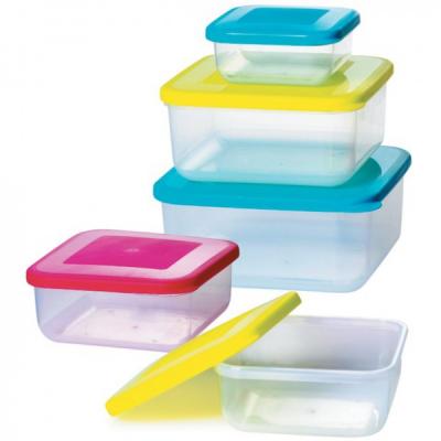 Set 5 Caserole Plastic pentru Alimente cu capac Bohmann BH56